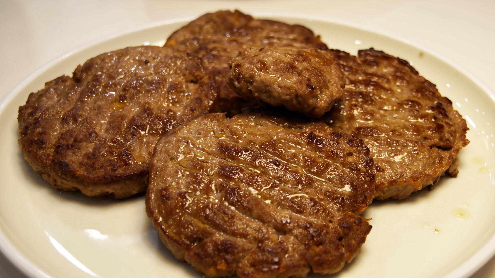 Burger Patty mit Rindfleisch