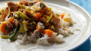 Fisch Ananas Curry