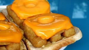 Fischstäbchen Toast