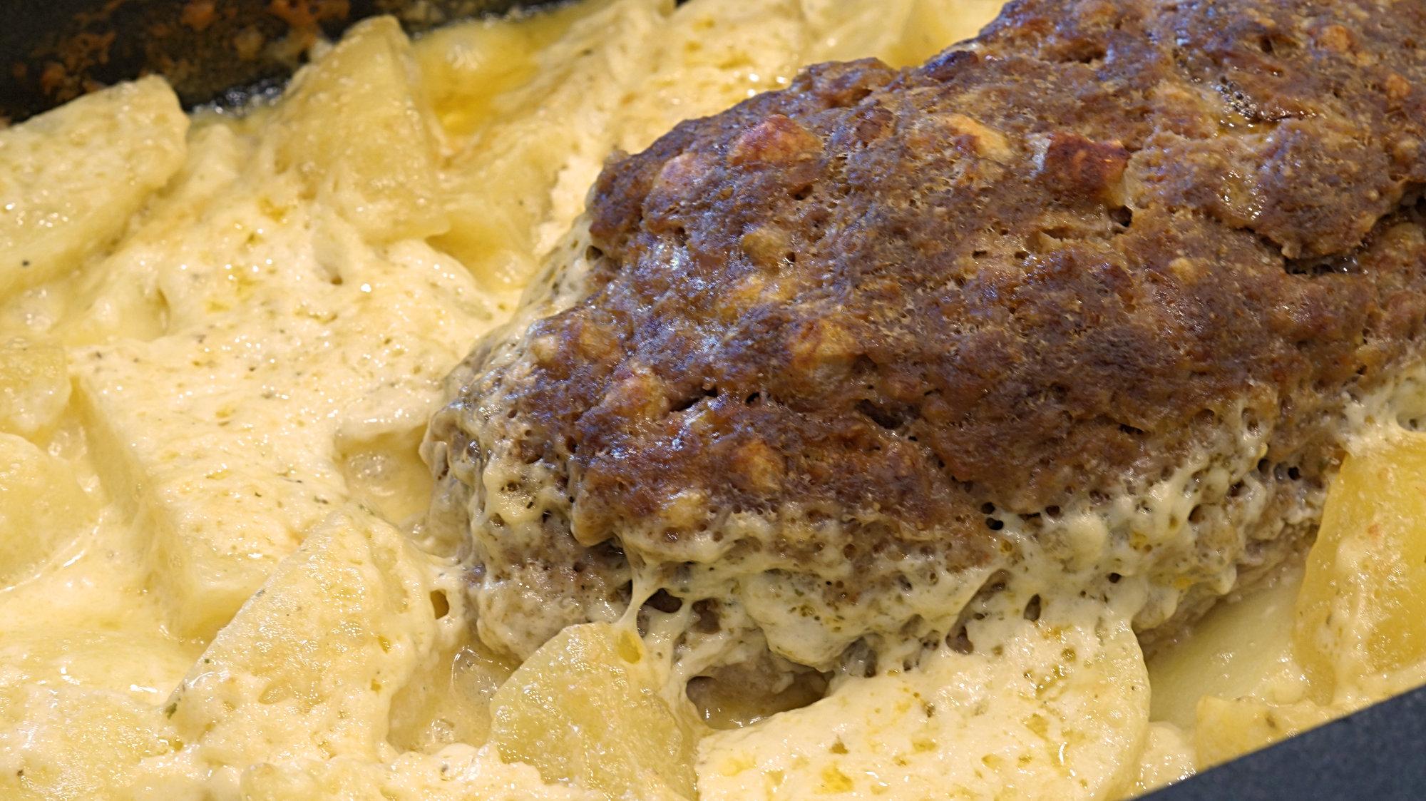 Hackbraten mit Sahnekartoffel