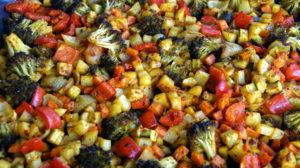 Kartoffel Gemüse vom Blech