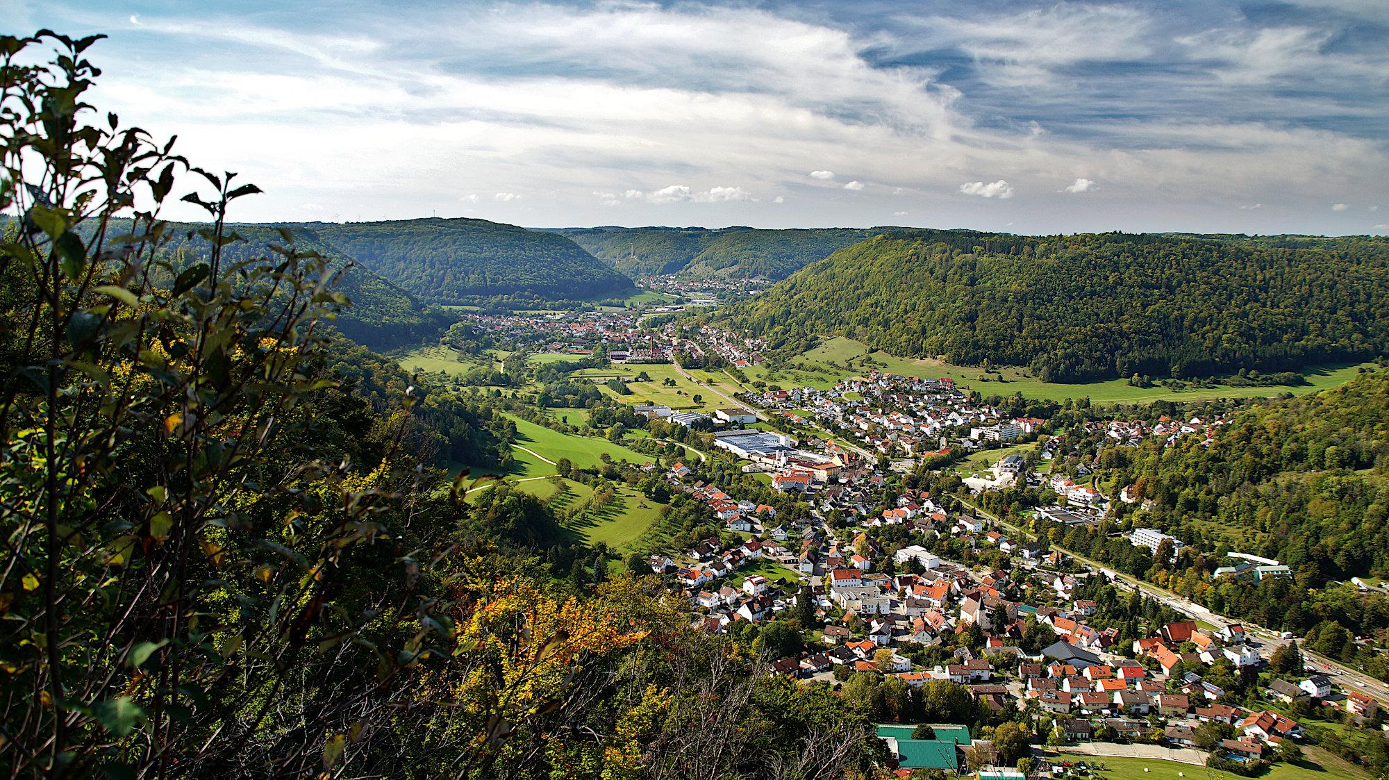 Blick vom Eckfeslen auf Bad Ditzenbach