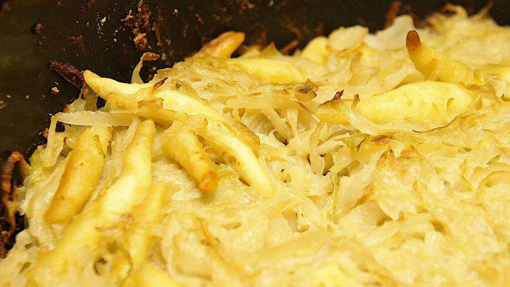 Schupfnudel Weißkohl Auflauf